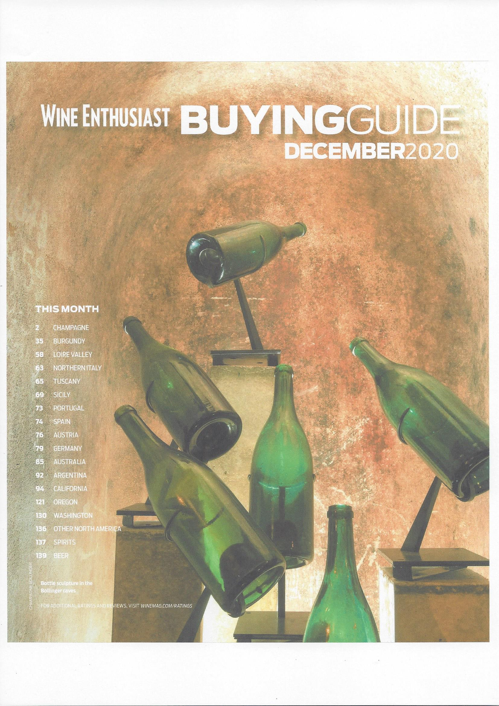 Wine Enthusiast  BUYING Guide Décembre 2020